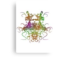 Rorschach Abstract Psychedelic #1 Canvas Print