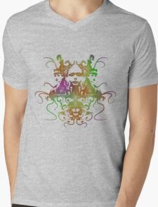 Rorschach Abstract Psychedelic #1 Mens V-Neck T-Shirt