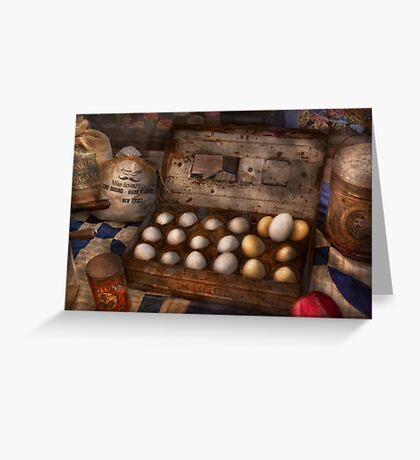 Kitchen - Food - Eggs - 18 eggs  Greeting Card