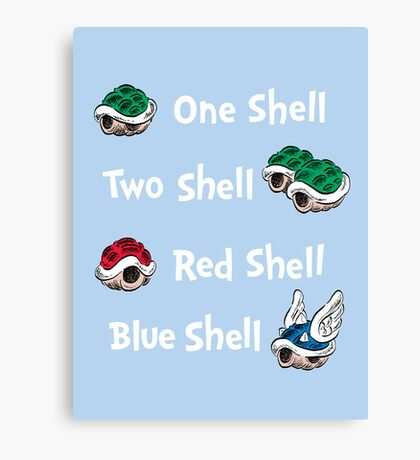 1 Shell 2 Shell Canvas Print