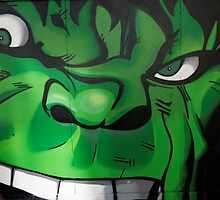 Street Art Brighton - The Hulk by Steve Churchill