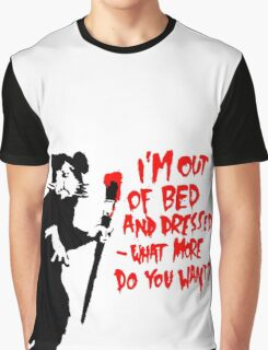 Banksy - Out of Bed Rat Graphic T-Shirt