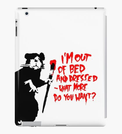 Banksy - Out of Bed Rat iPad Case/Skin