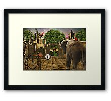 Perpetually Late... Framed Print