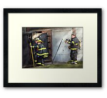 Fireman - Hats - Pick a hat, any hat  Framed Print