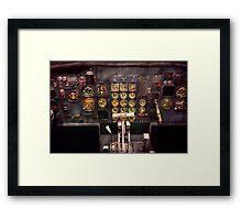 Plane - Cockpit - Boeing 727 - The controls are set Framed Print