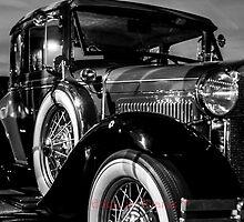 Black & White Classic Ford  by 1EddiejrAlvarez
