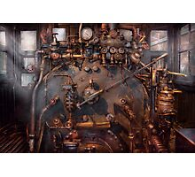 Train - Engine - Hot under the collar  Photographic Print
