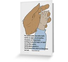 Nothing can separate us Bible Verse Hands Picture Greeting Card