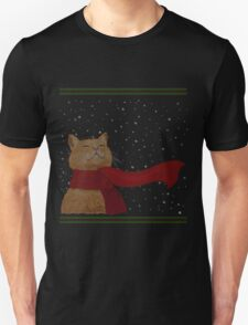 Tabby loves Snow (Knitted-version) T-Shirt