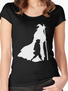 On an Adventure - inverted Women's Fitted Scoop T-Shirt