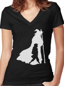 On an Adventure - inverted Women's Fitted V-Neck T-Shirt