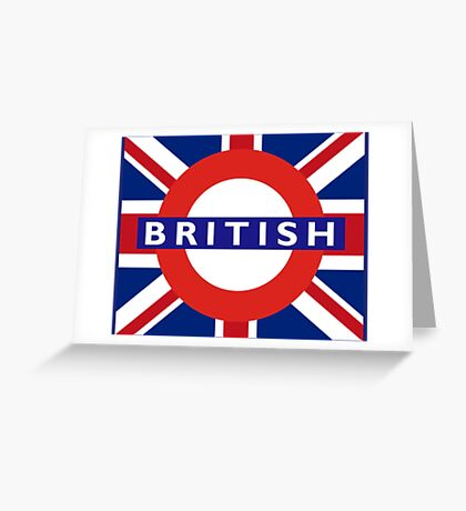BRITISH, UNION JACK, UNDERGROUND, TUBE, LONDON, BRITAIN, ENGLAND, UK Greeting Card