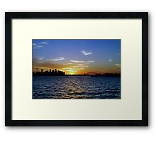 Sydney Sunset Framed Print