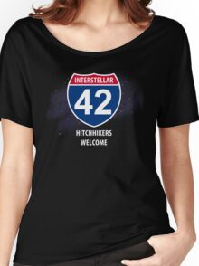 Hitchhikers Welcome Women's Relaxed Fit T-Shirt