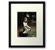 Butterfly Catcher at American Museum of Natural History Framed Print