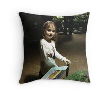 Butterfly Catcher at American Museum of Natural History Throw Pillow