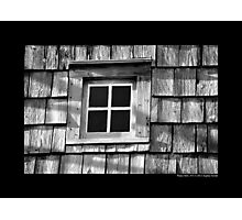 Old Windmill Window - Water Mill, New York  Photographic Print