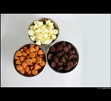 Nestle Premier White, Butter-Scotch, And Milk Chocolate Morsels by © Sophie W. Smith