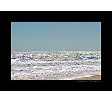 Atlantic Ocean Silver Surface - Westhampton Beach, New York Photographic Print