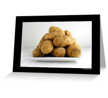 Solanum Tuberosum - Potatoes Greeting Card