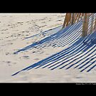 Wooden Sand Fence Shadows - Hampton Bays, New York by © Sophie W. Smith