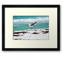 Beach Yoga - 2nd Pose Framed Print
