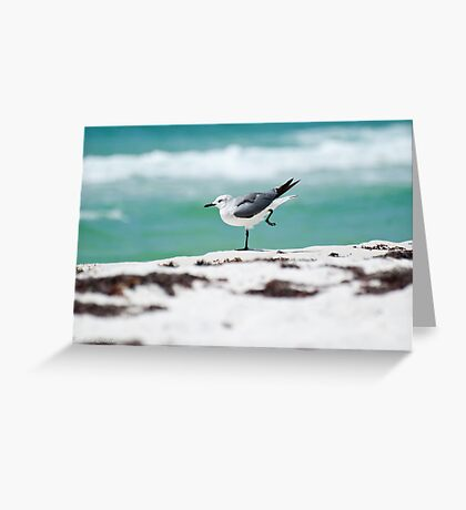 Beach Yoga - 2nd Pose Greeting Card