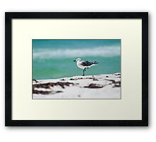 Beach Yoga - Third Pose Framed Print