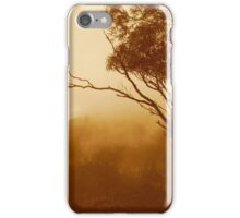 Treetop and fog iPhone Case/Skin