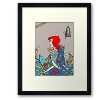 Royal Blue Framed Print