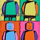 Pop art lego man by Kaz Innes