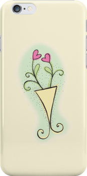 Loverly Flower pot Love hearts  by jazzydevil