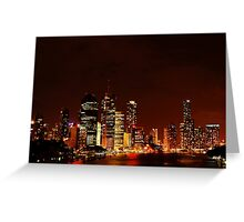 Riverside Nights Greeting Card