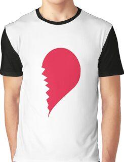 Broken Heart Right Graphic T-Shirt