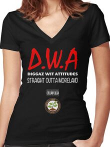 Diggaz wit attitudes Women's Fitted V-Neck T-Shirt
