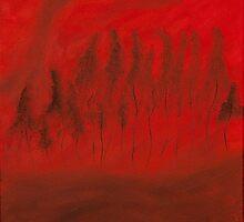 Angry Little Trees by Oksana Fox