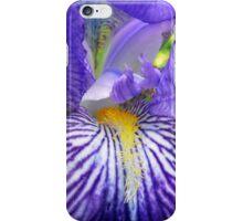 Purple Bearded Iris Monsignor Macro iPhone Case/Skin