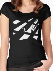 Black and White Shinobis Women's Fitted Scoop T-Shirt