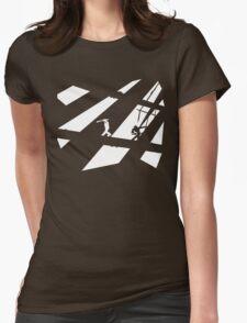 Black and White Shinobis Womens Fitted T-Shirt