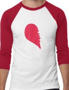 Broken Heart  Left Men's Baseball ¾ T-Shirt