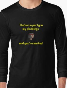 Runescape - Party in my platelegs Long Sleeve T-Shirt