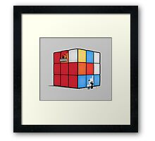 Solving the cube Framed Print