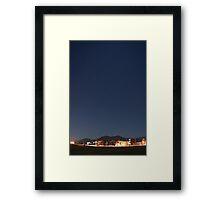 suburb of Fukuoka under the stars Framed Print