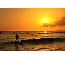 Waikiki Sunset Photographic Print