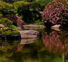 Spring in the Japanese Garden by Celeste Mookherjee