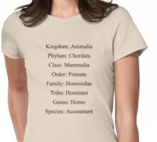 Biological Classification - Accountant Womens Fitted T-Shirt