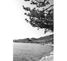 mer du Japon (B&W) view 2 Photographic Print