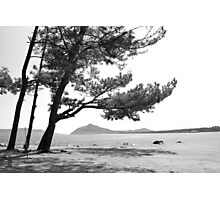 mer du Japon (B&W) view 3 Photographic Print