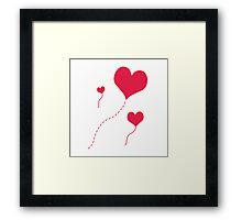 Heart Balloons Framed Print
